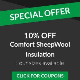 Save 10% on Comfort Sheep Wool Insulation