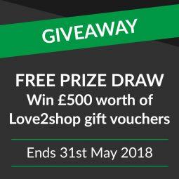Win £500 of Love2shop vouchers