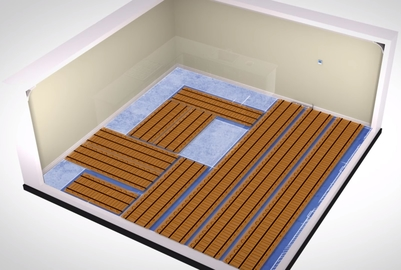 How underfloor heating should be laid in a room