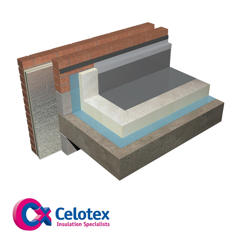 120mm Celotex Crown Bond Flat Roof Board Single Ply Roofing System