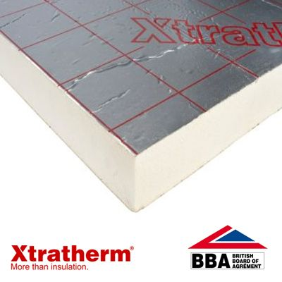Xtratherm thin r pitched roof insulation board x 1 for 100mm polystyrene floor insulation