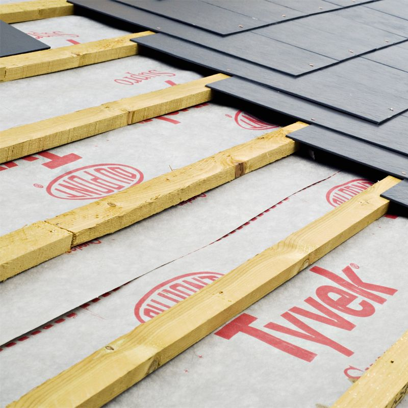 Tyvek Supro Breather Membrane Felt Underlay By Dupont 50 X 1 5m Roll Insulation