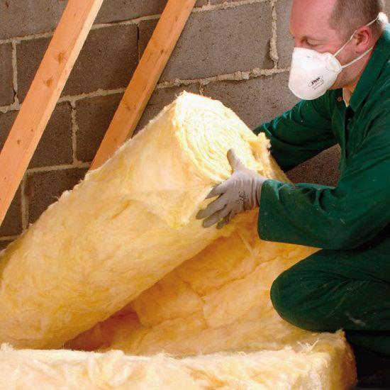 how to cut loft insulation rolls
