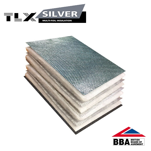 Tlx Silver Thinsulex Multifoil Insulation 1 2m X 10m
