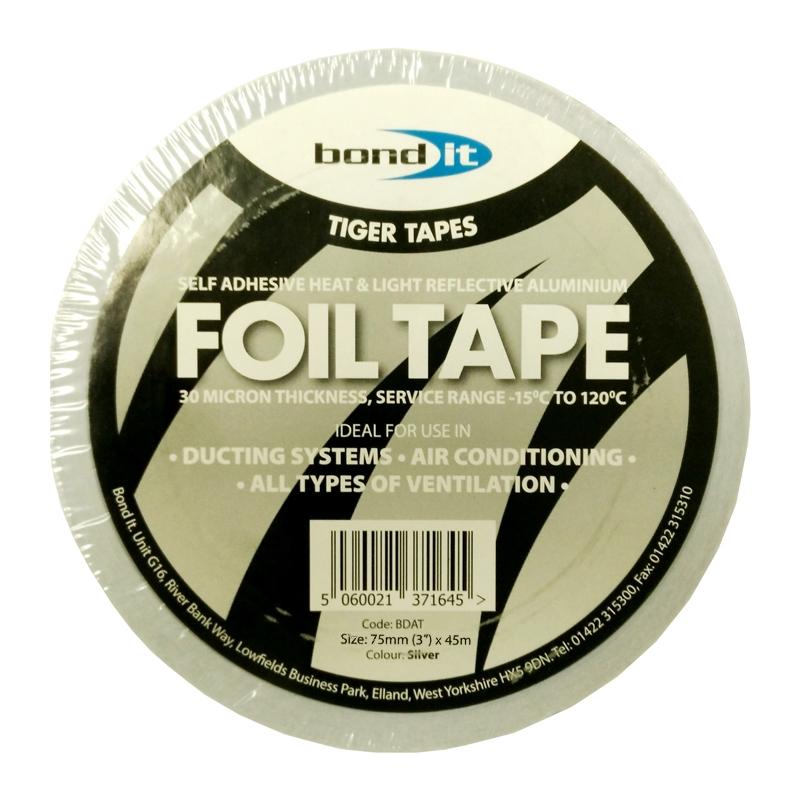 Aluminium Reflective Foil Tape In Silver From Everbuild