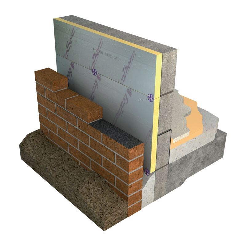Wall Insulation Product : Ecotherm eco cavity partial fill wall insulation mm