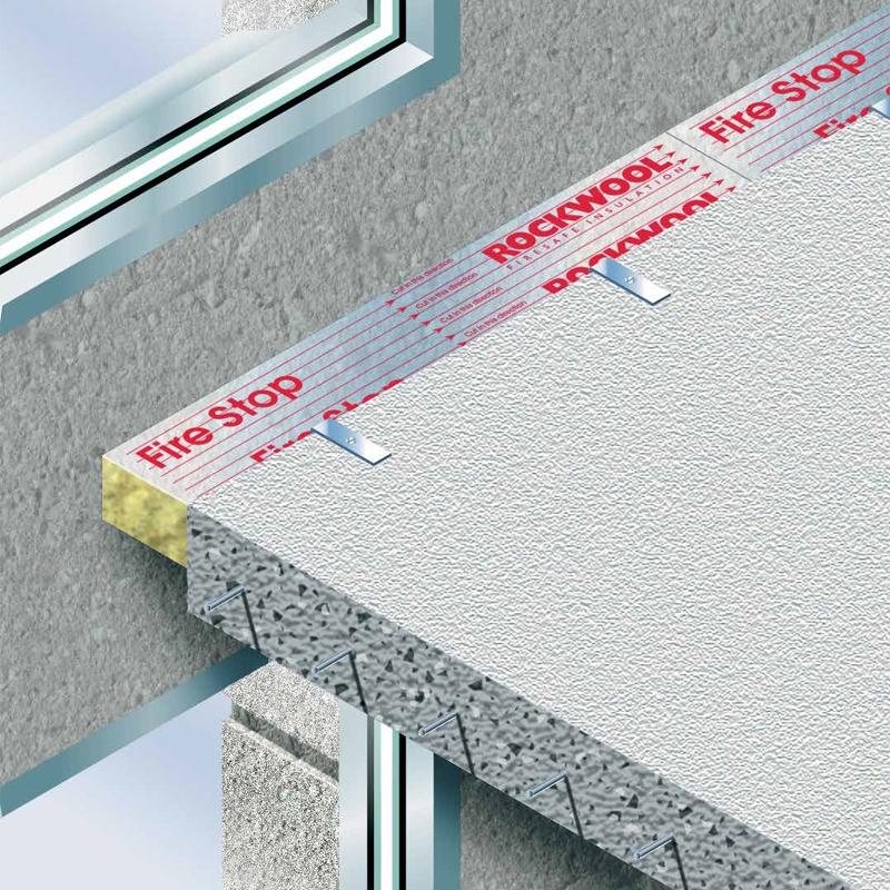 Rockwool sp120 firestop firepro cavity barrier 90mm 23 for Mineral wool firestop