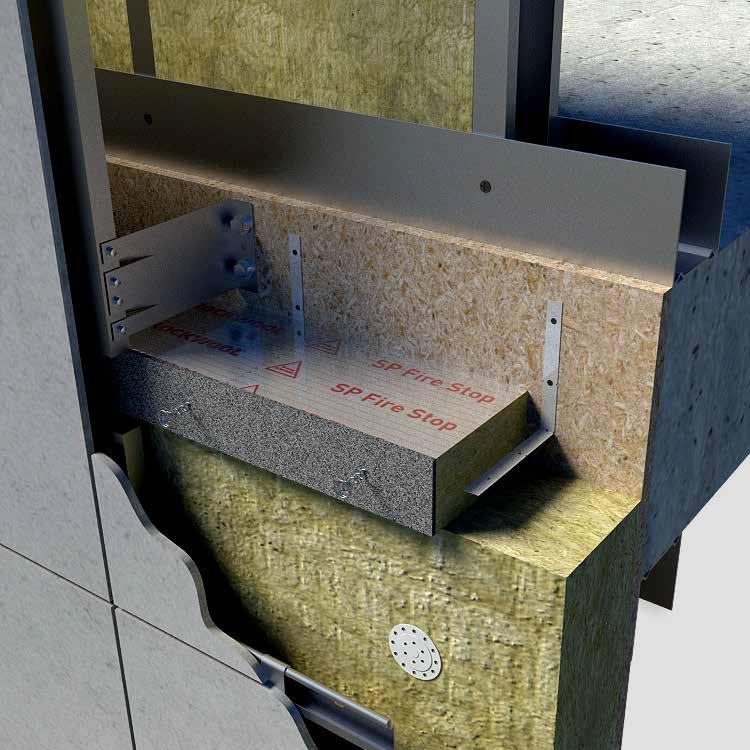 Rockwool sp firestop vrb cavity fire barrier 75mm to 94mm for Mineral wool firestop