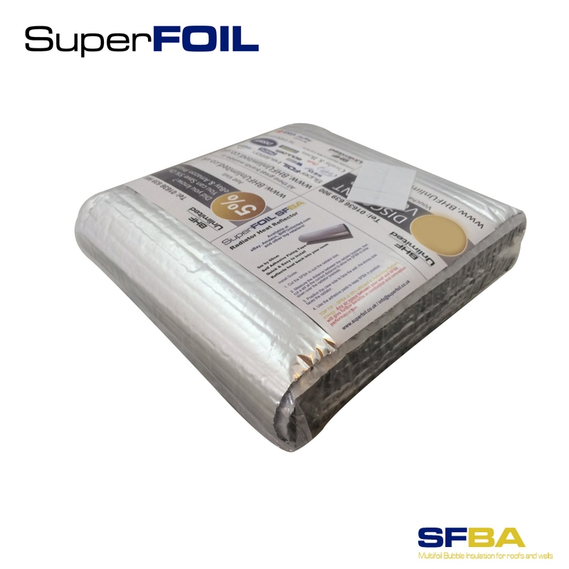 Superfoil radpack heat reflective radiator foil insulation