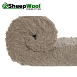 Premium SheepWool Insulation 100pc Natural 100mm x 380mm - 4.56m2 Pack