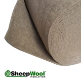 Acoustic SilentWool Carpet Underlay 100pc Natural - 25m x 1m x 9mm